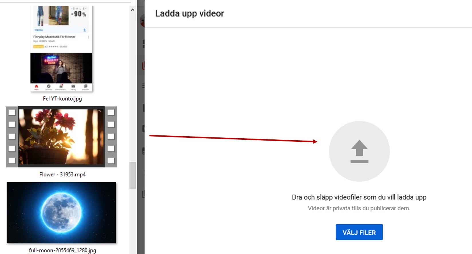 Ladda upp film till YouTube